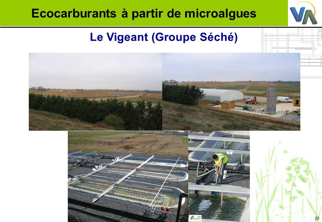 Ecocarburants à partir de microalgues Le Vigeant (Groupe Séché)