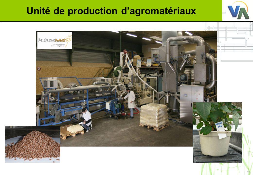 Unité de production d'agromatériaux
