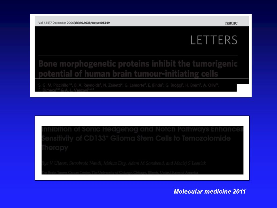 Molecular medicine 2011