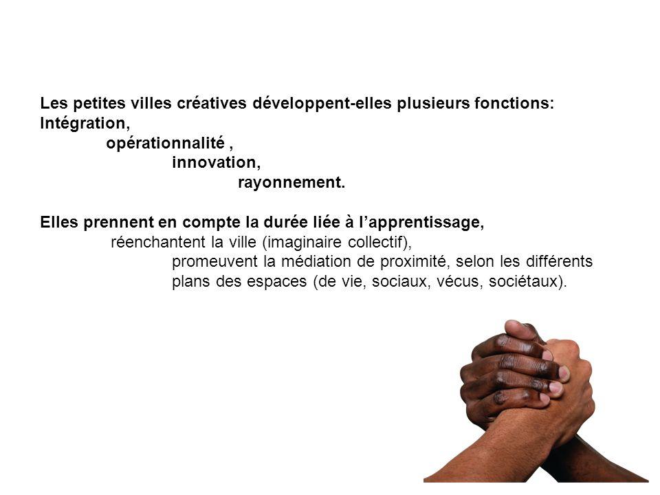 Les petites villes créatives développent-elles plusieurs fonctions: