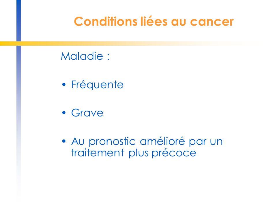 Conditions liées au cancer