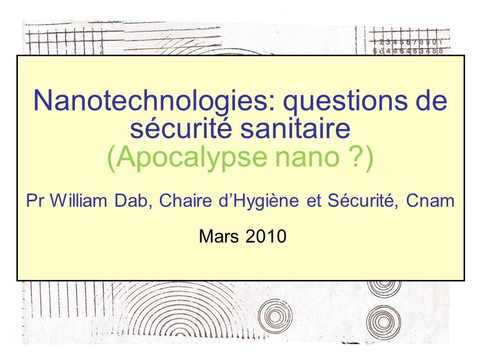 Nanotechnologies: questions de sécurité sanitaire (Apocalypse nano