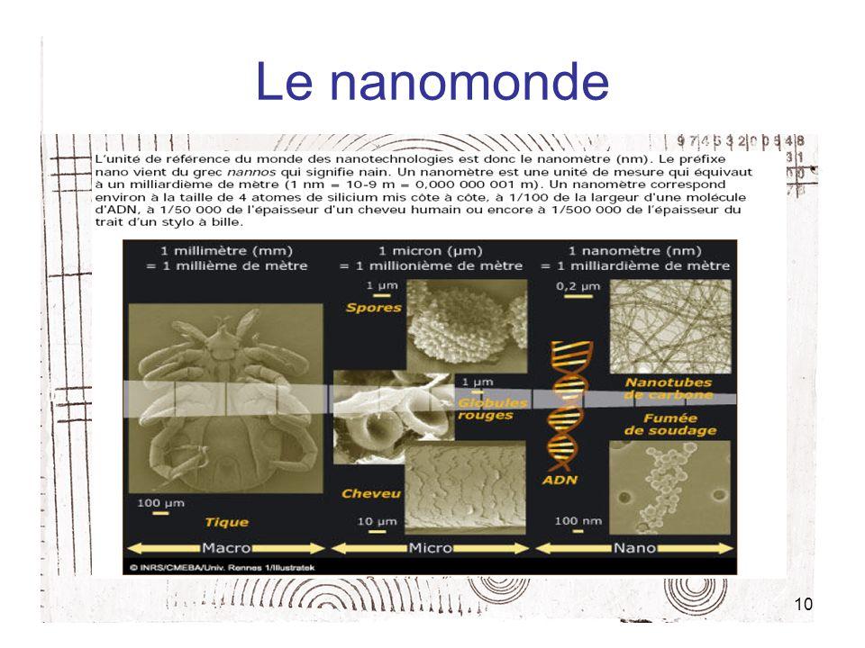 Le nanomonde