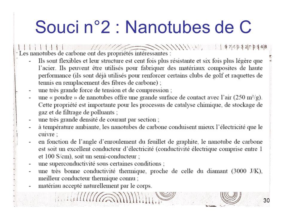 Souci n°2 : Nanotubes de C