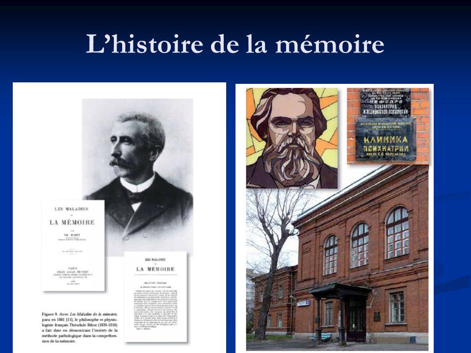 L'histoire de la mémoire