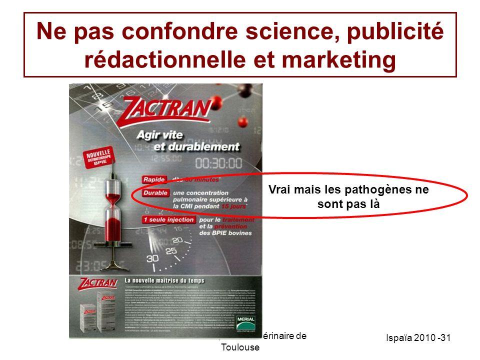 Ne pas confondre science, publicité rédactionnelle et marketing