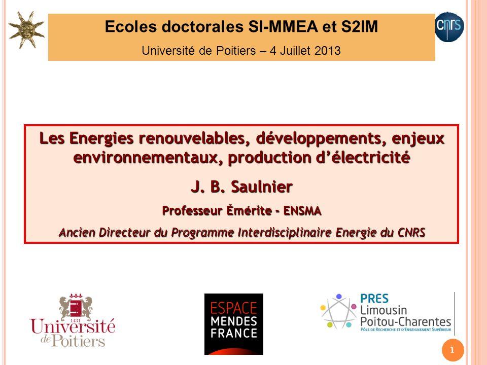 Ecoles doctorales SI-MMEA et S2IM Professeur Émérite - ENSMA