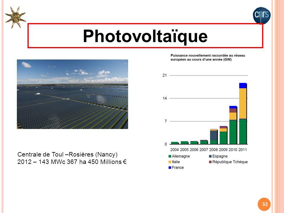 Photovoltaïque Centrale de Toul –Rosières (Nancy)