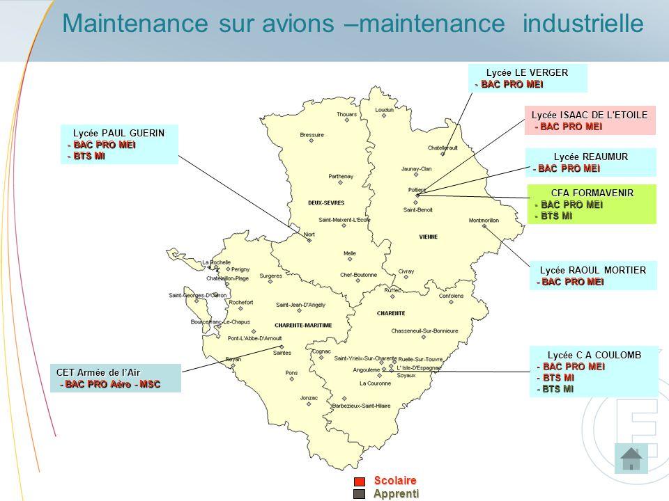 Maintenance sur avions –maintenance industrielle