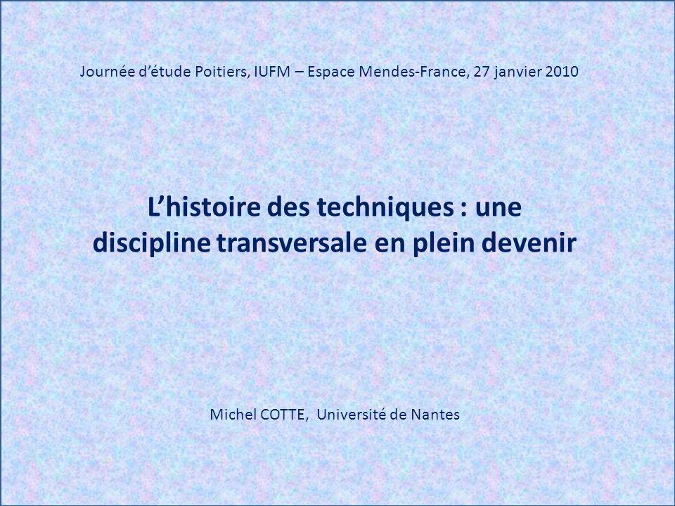 Journée d'étude Poitiers, IUFM – Espace Mendes-France, 27 janvier 2010