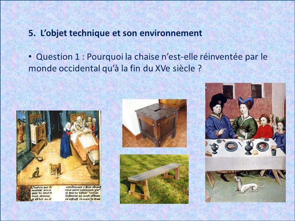 5. L'objet technique et son environnement