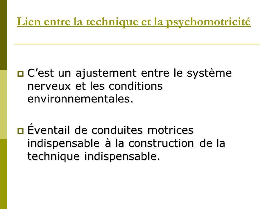 Lien entre la technique et la psychomotricité