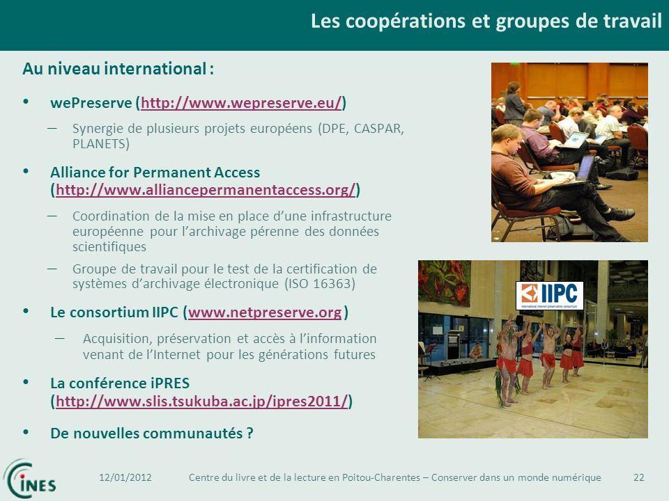 Les coopérations et groupes de travail