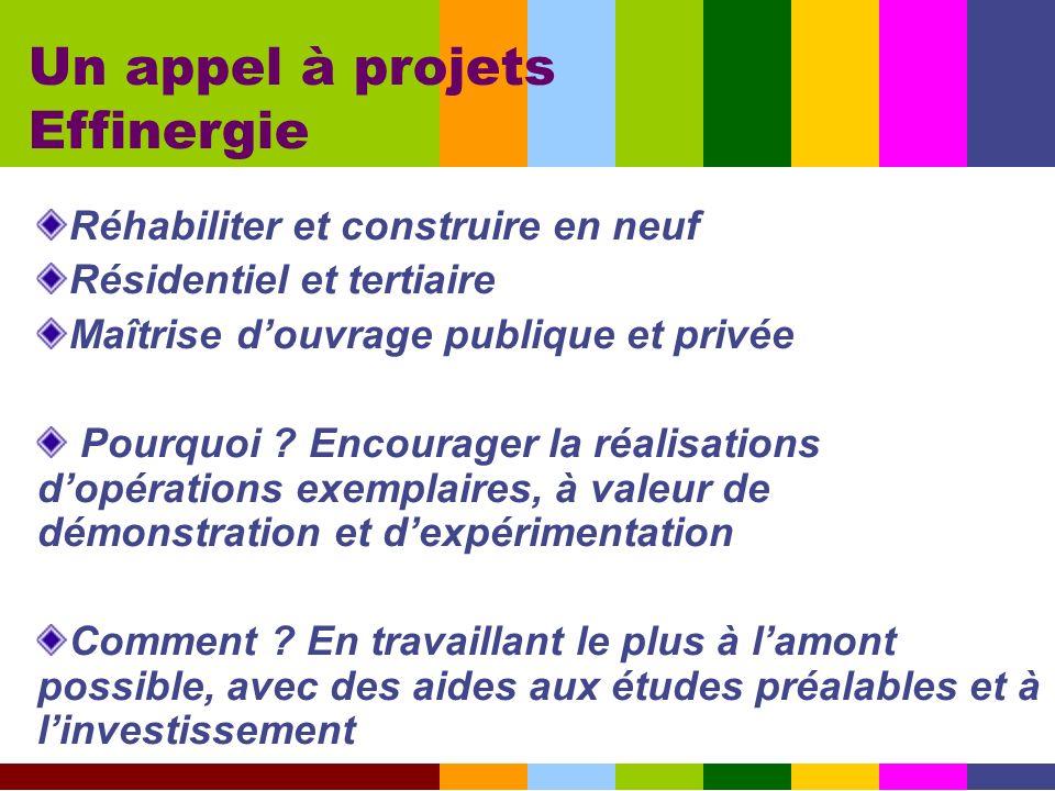 Un appel à projets Effinergie