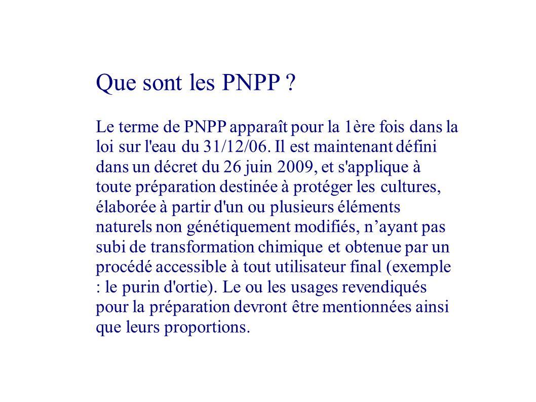 Que sont les PNPP .