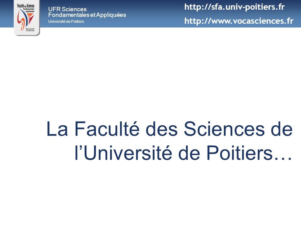 La Faculté des Sciences de l'Université de Poitiers…