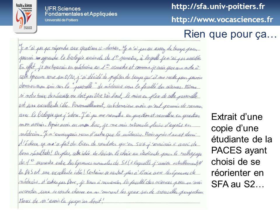 http://sfa.univ-poitiers.fr http://www.vocasciences.fr. UFR Sciences. Fondamentales et Appliquées.