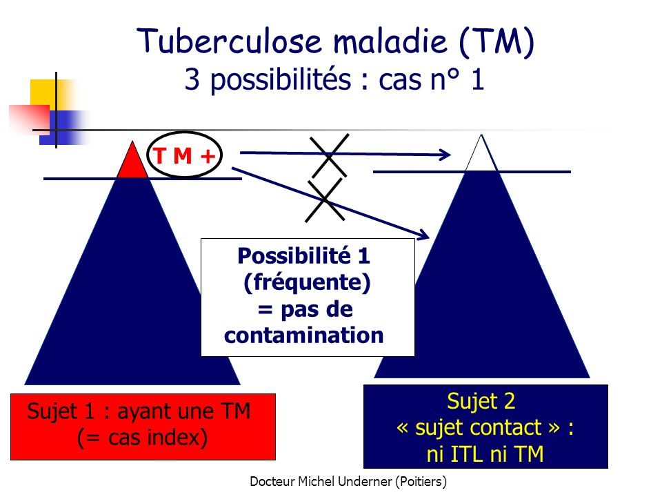 Tuberculose maladie (TM) 3 possibilités : cas n° 1