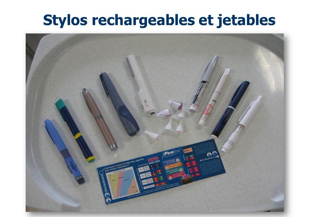 Stylos rechargeables et jetables