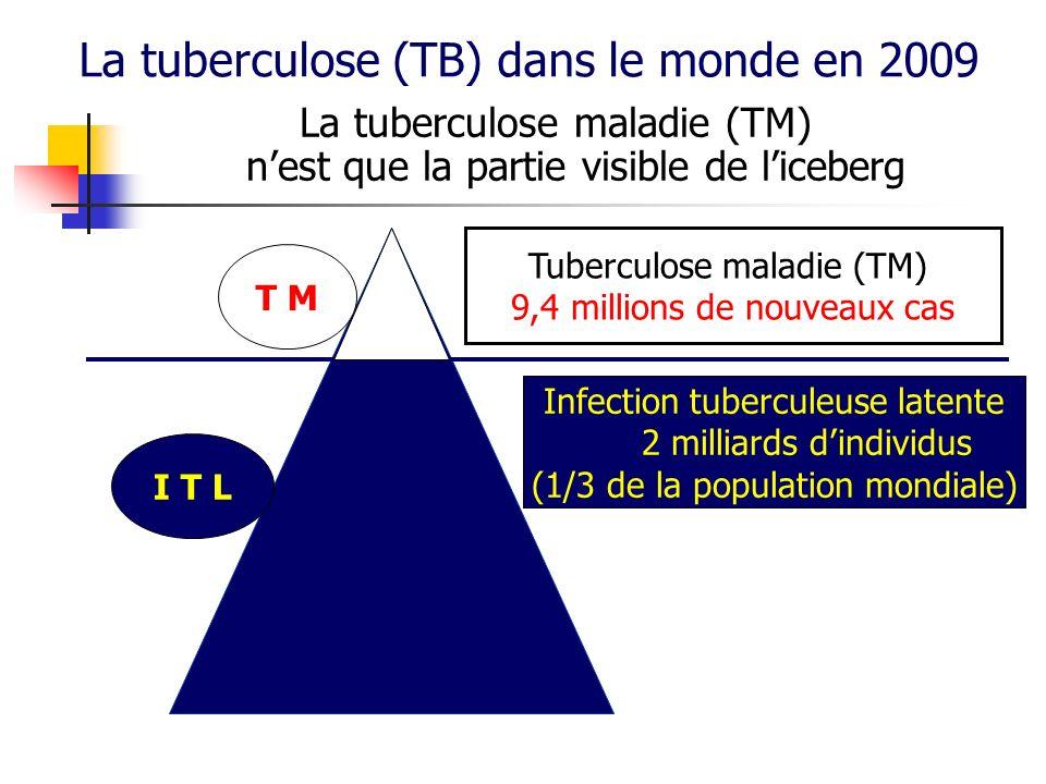 La tuberculose (TB) dans le monde en 2009