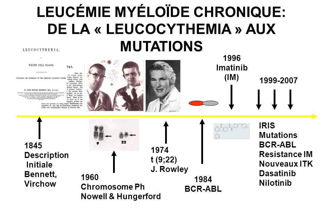 LEUCÉMIE MYÉLOÏDE CHRONIQUE: DE LA « LEUCOCYTHEMIA » AUX MUTATIONS