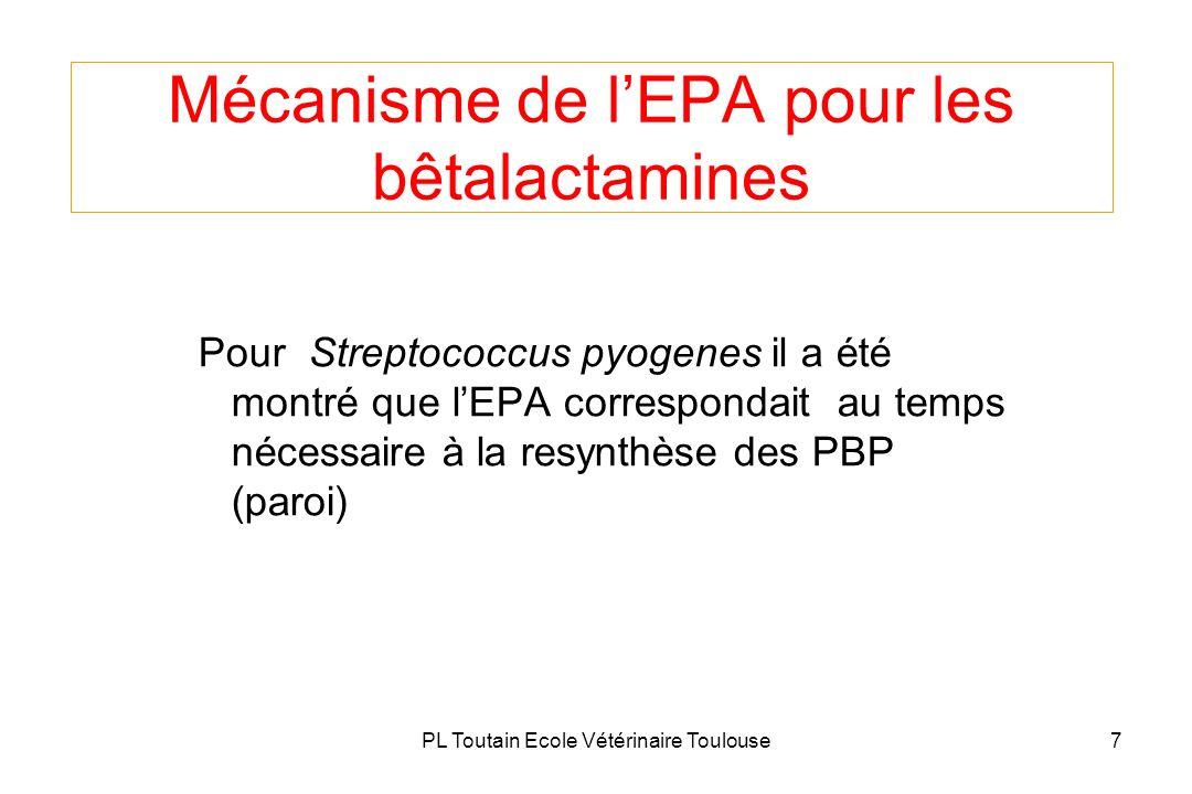 Mécanisme de l'EPA pour les bêtalactamines