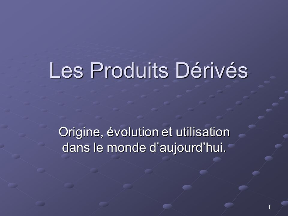 Origine, évolution et utilisation dans le monde d'aujourd'hui.