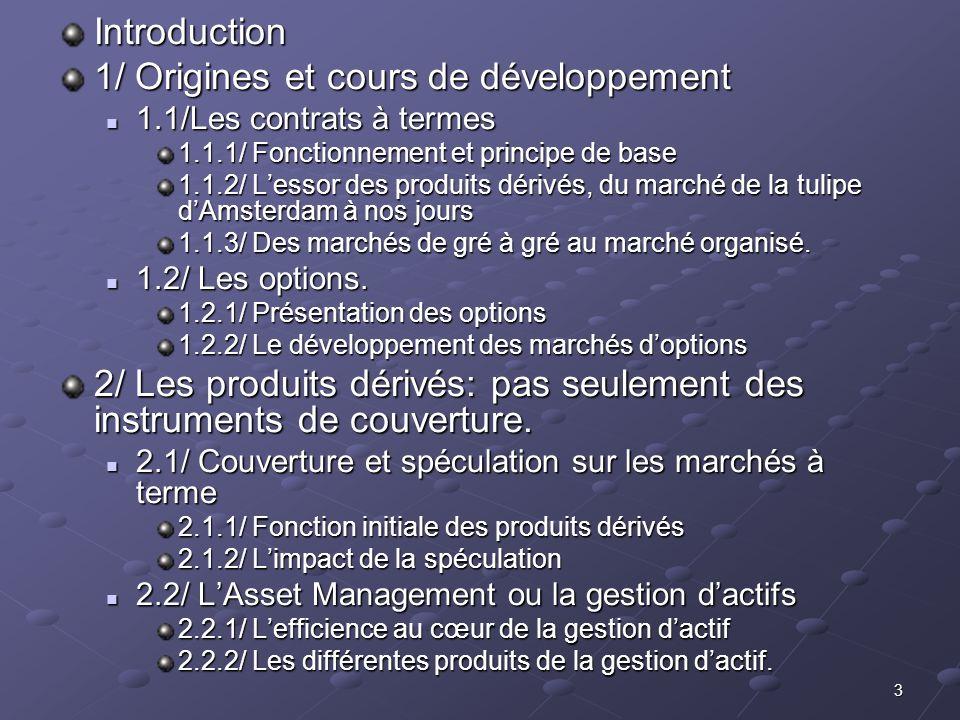 1/ Origines et cours de développement