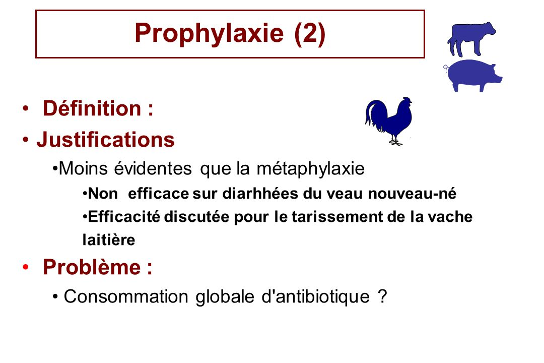 Prophylaxie (2) Définition : Justifications Problème :