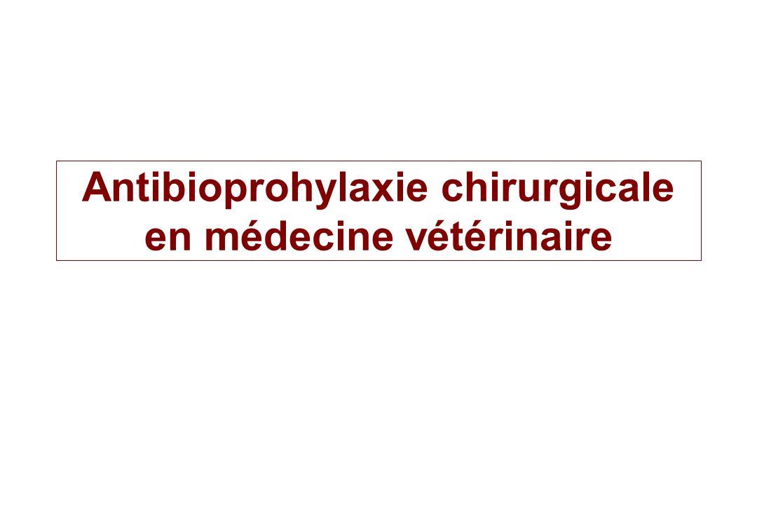 Antibioprohylaxie chirurgicale en médecine vétérinaire