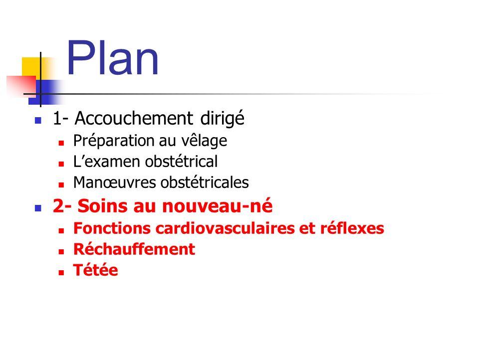 Plan 1- Accouchement dirigé 2- Soins au nouveau-né