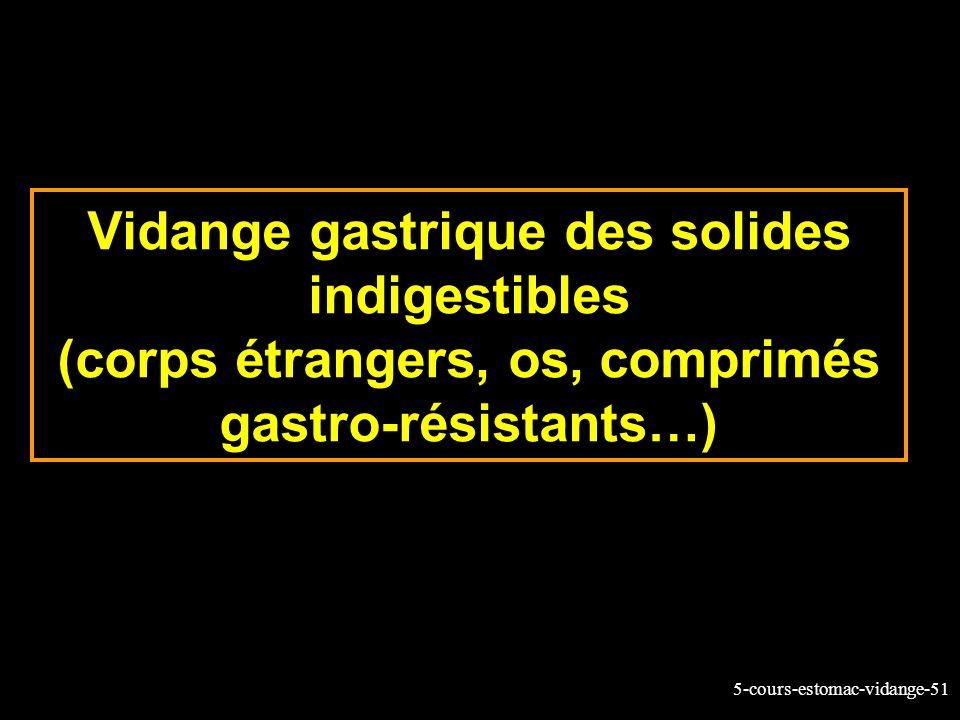 Vidange gastrique des solides indigestibles (corps étrangers, os, comprimés gastro-résistants…)