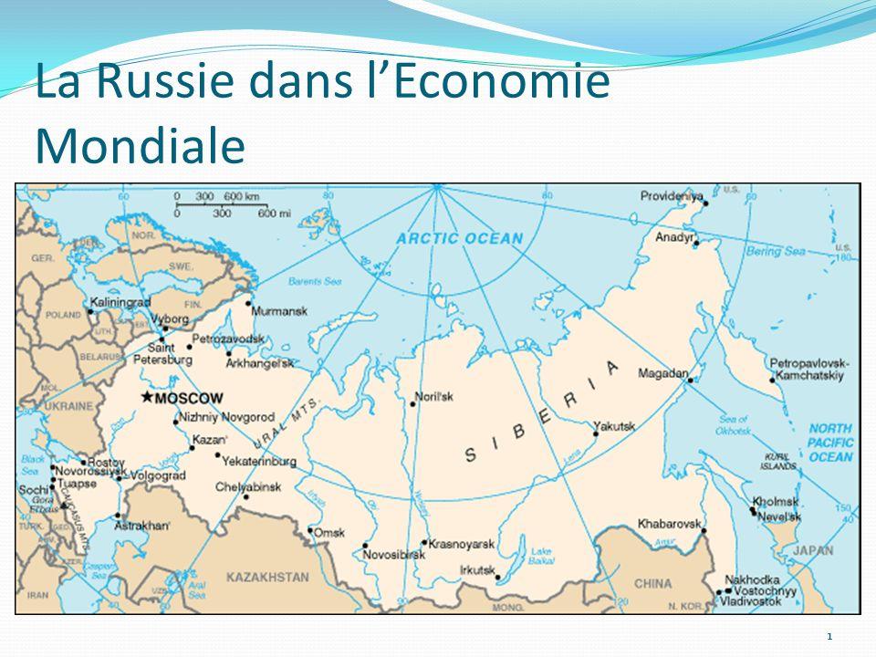 La Russie dans l'Economie Mondiale