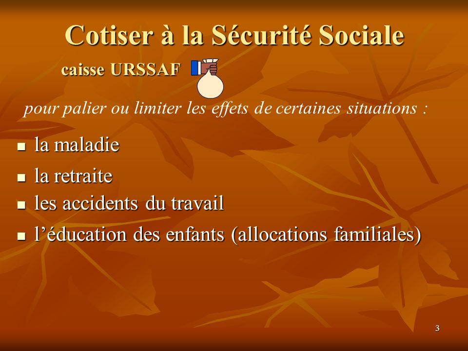 Cotiser à la Sécurité Sociale