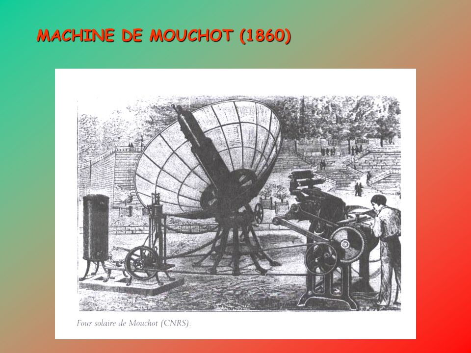 MACHINE DE MOUCHOT (1860)