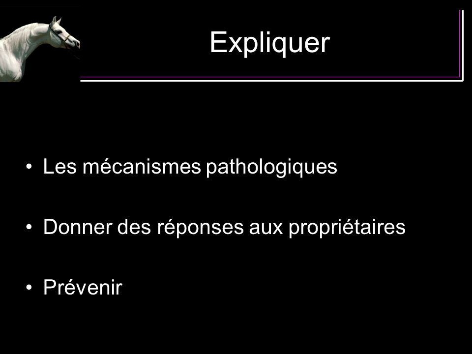 Expliquer Les mécanismes pathologiques