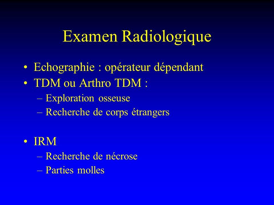 Examen Radiologique Echographie : opérateur dépendant