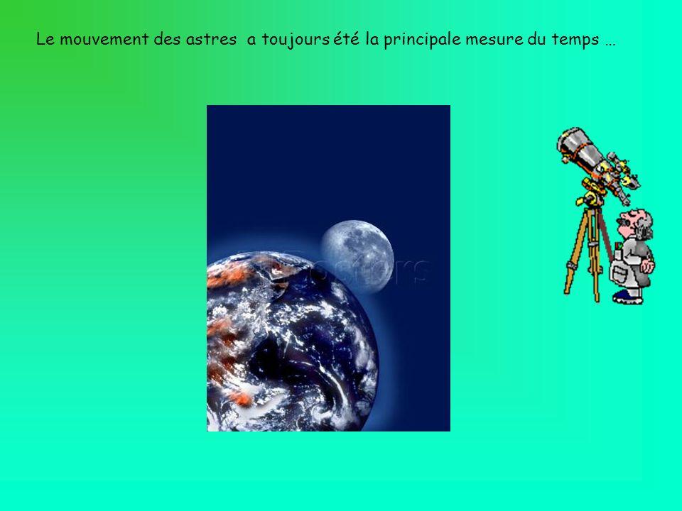 Le mouvement des astres a toujours été la principale mesure du temps …
