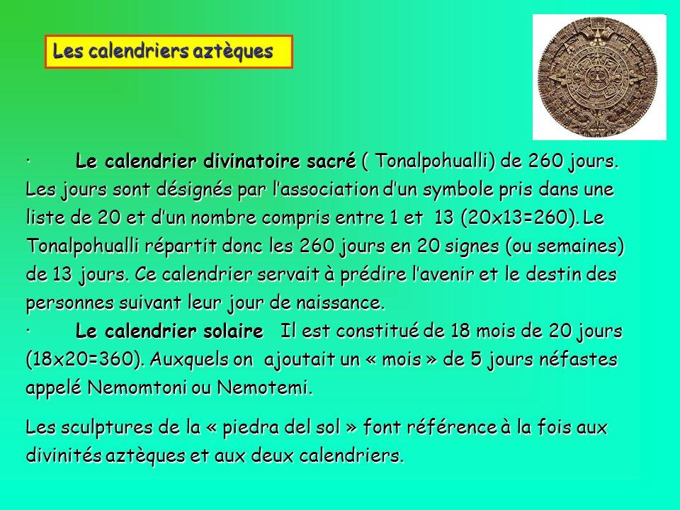 Les calendriers aztèques