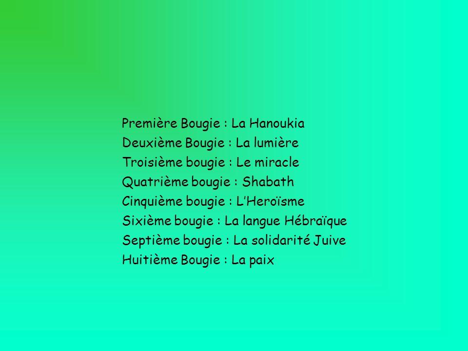Première Bougie : La Hanoukia