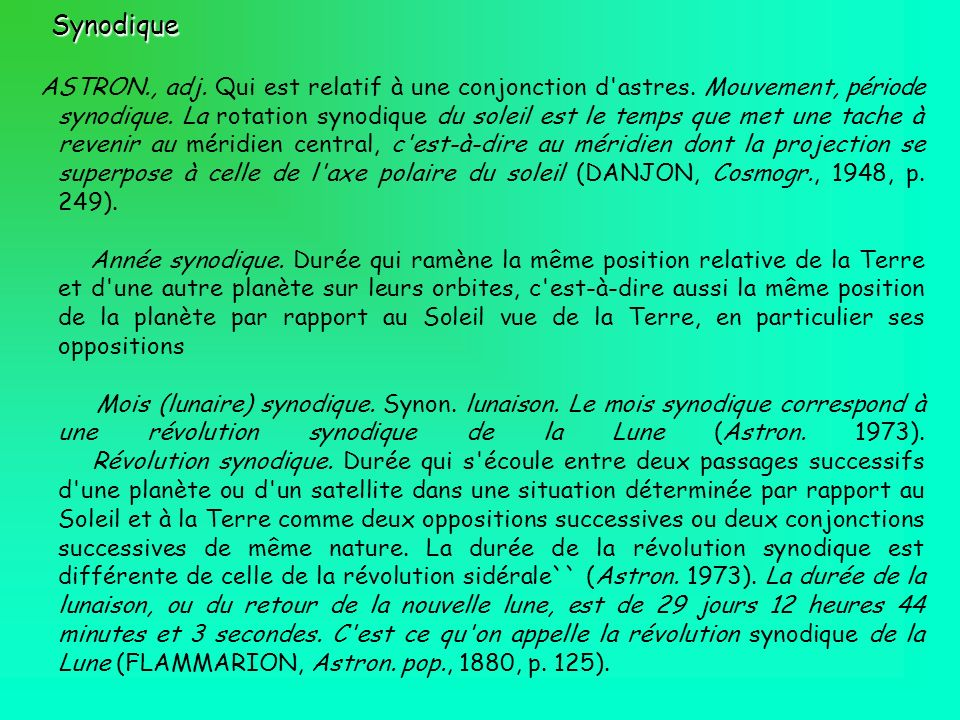 Synodique