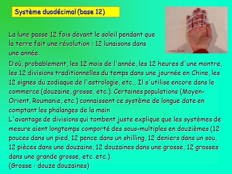 Système duodécimal (base 12)