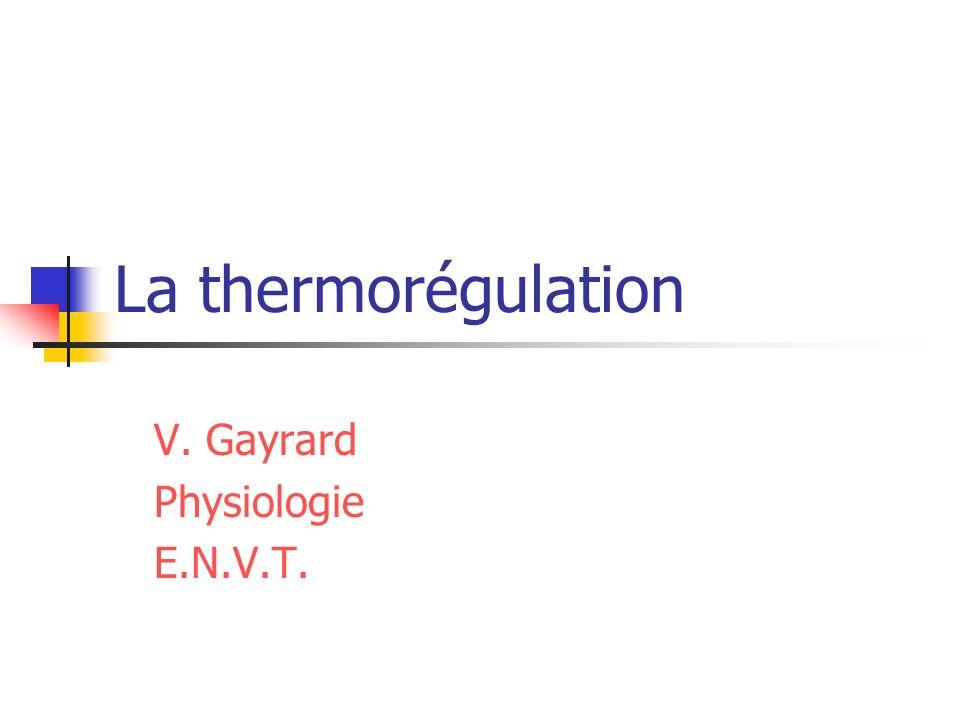 V. Gayrard Physiologie E.N.V.T.