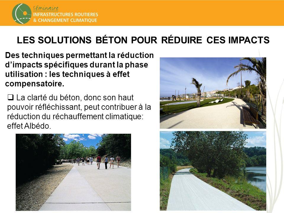 LES SOLUTIONS BÉTON POUR RÉDUIRE CES IMPACTS