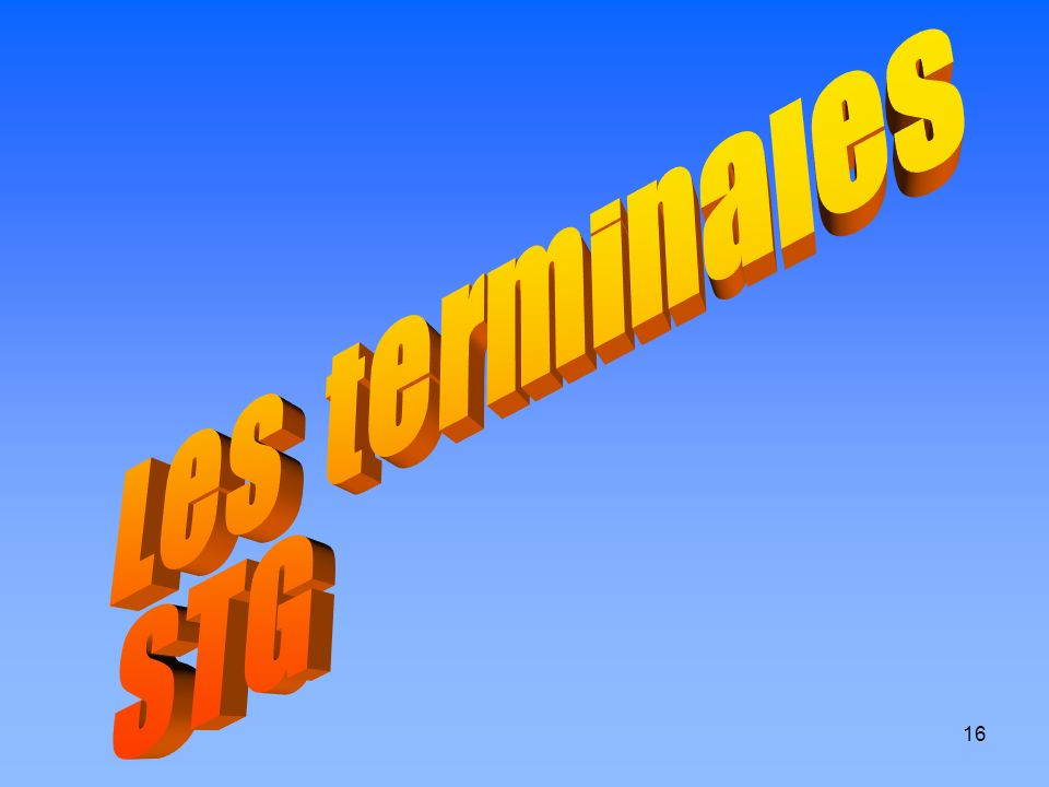 Les terminales STG
