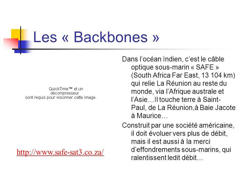 Les « Backbones » http://www.safe-sat3.co.za/