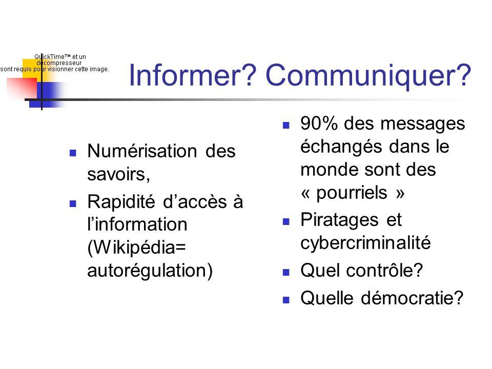 Informer Communiquer Numérisation des savoirs, Rapidité d'accès à l'information (Wikipédia= autorégulation)