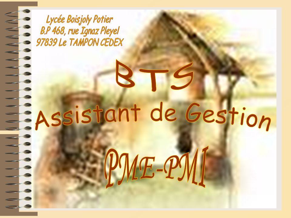 Lycée Boisjoly Potier B.P 468, rue Ignaz Pleyel. 97839 Le TAMPON CEDEX. BTS. Assistant de Gestion.