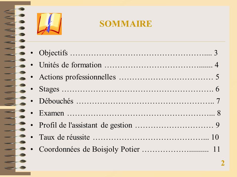 SOMMAIRE Objectifs …………………………………………….... 3
