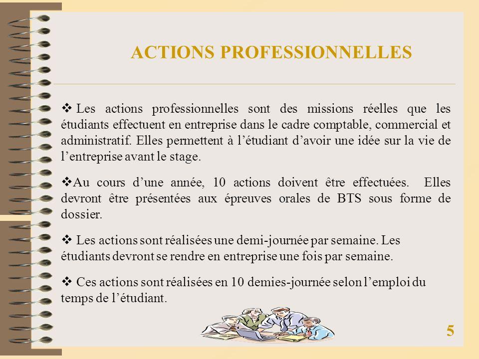 ACTIONS PROFESSIONNELLES